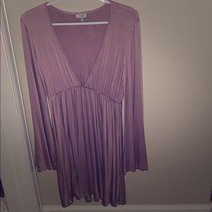 Tobi mauve low v party dress